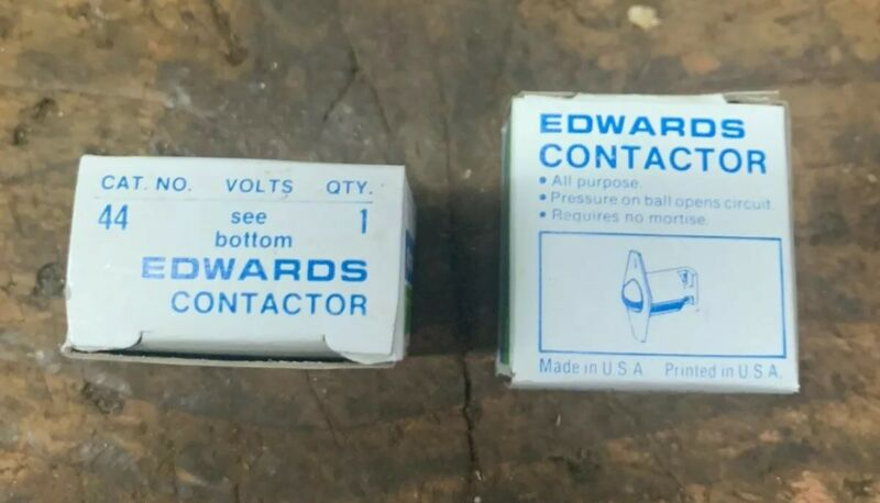 Pair Edwards #44 Roller Ball Contact Switch Door Jamb (Low Voltage) USA