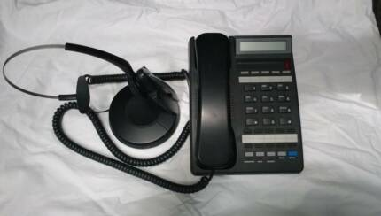 Office Business phone and Jabra Bluetooth Headset