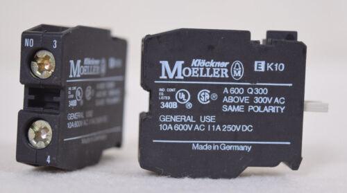 2 Count Moeller Contact Blocks EK10