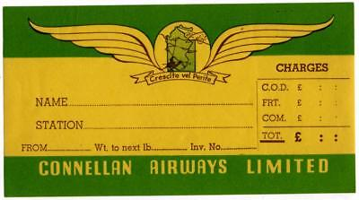 Connellan Airways Limited  Australia  Old Frieght Airline Luggage Label  C  1955