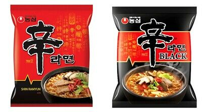 Korean Instant Hot Spicy Noodle NONGSHIM SHIN RAMYUN Series 2pack Set BLACK