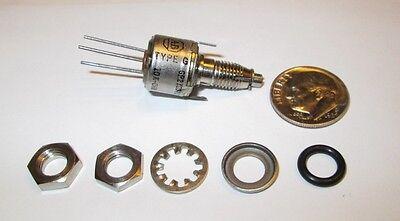 10k Ohm Miniature Locking Potentiometer Wpanel Seal Allen-bradley Nos - 1 Pc.