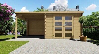 Log Cabin Garden shed 3mx2,4m+2.4m/ 28mm