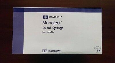 Covidien Monoject Syringe 20ml Luer-lock Tip 8881520657 Newsealed 50bx