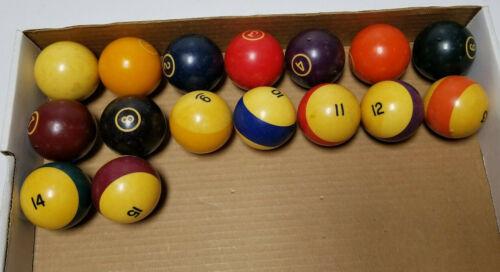 Vintage Billiards Pool Balls Set  8 Ball