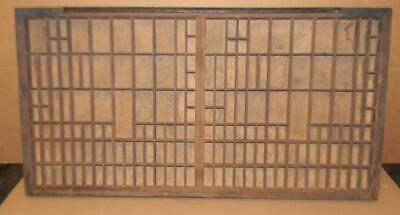 Antique Letterpress Double Full Case Print Type Drawer Shadowbox Ca20 12