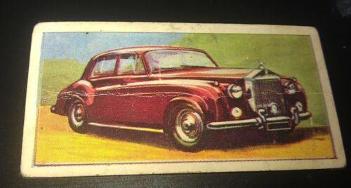 1960 ROLLS ROYCE Silver Cloud II  Orig Barratt & Co. Sweets UK Trade Card