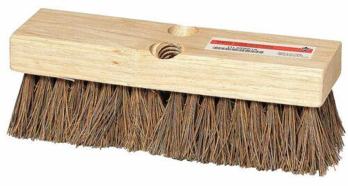 "Palmyra Broom Brush Head 12"" DECK SCRUB 2"" Bristles Wood Block Tough Guy 4KNA8A"
