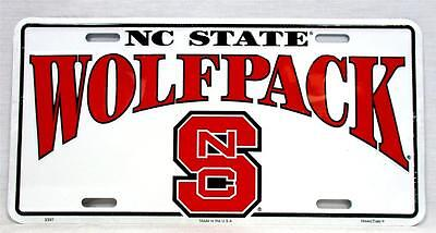 NC North Carolina State Wolfpack Car Truck Tag License Plate Football Man Cave North Carolina State Wolfpack Car