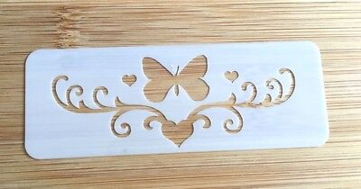 Face painting stencil reusable washable butterfly & heart glitter henna tattoo](Face Paint Butterfly)