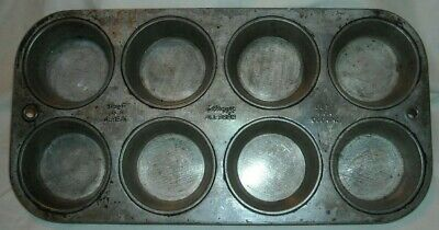 VINTAGE KELLOGG'S ALL BRAN MUFFIN TIN BEST AS A CEREAL BEST FOR