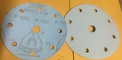 25 Pc 6 Sanding Discs 180 Grit 8 Holes Hook Loop By Klingspor