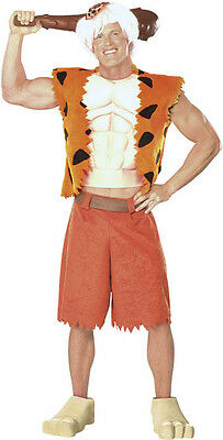 Bamm Bamm Rubble The Flintstones Caveman Dress Up Halloween Deluxe Adult Costume