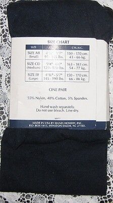 ~ NEW HANES OPAGQUE CLASSIC NAVY GIRLS TIGHTS SIZE AB PERFECT FOR FALL & WINTER (Sheer Tights For Girls)
