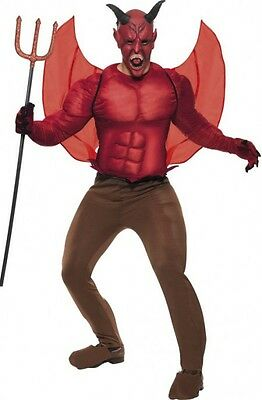 NEW Adult Thick Padded Muscly Devil Men's Halloween Scary Male Costume sz L