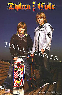 22x34 Poster ~Cole & Dylan Sprouse Twins ~Suite Life Of Zack & Cody ~Skateboard
