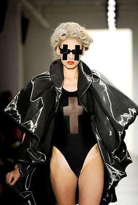 SALE! LINDA FARROW X JEREMY SCOTT JS CROSS BLACK SUNGLASSES RARE AND (Linda Farrow Sunglasses Sale)