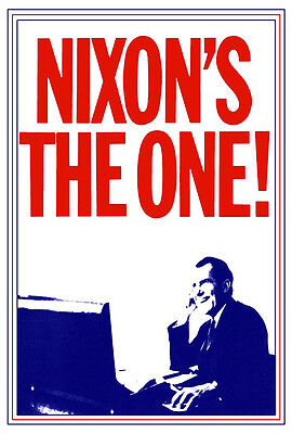 Presidential Poster (Nixon's the One Poster, Richard Nixon, Presidential Campaign Poster)