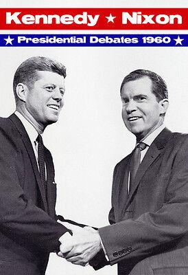 Presidential Poster (John F. Kennedy vs Richard Nixon Poster, 1960 Presidential Debate)