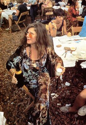 Janis Joplin Poster, Flower Child, Singer, Hippie, Psychedelic Rock  - Hippie Flower Child