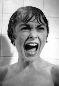 Psycho Poster, Shower, Psychological Thriller, Alfred Hitchcock