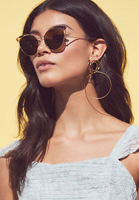 $530 Ahlem Real Gold Dipped Palladium Place Violet Sunglasses (Sunglasses Station)