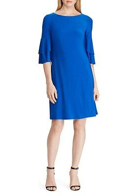 Lauren Ralph Lauren Women's Jersey Ruffle Sleeve Dress Size 4 $125.00