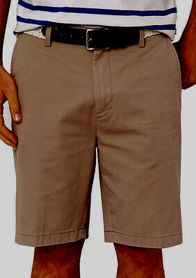 NAUTICA Men's Jeans Company Clipper Shorts Flat Front Khaki  Big & Tall 48 NWT