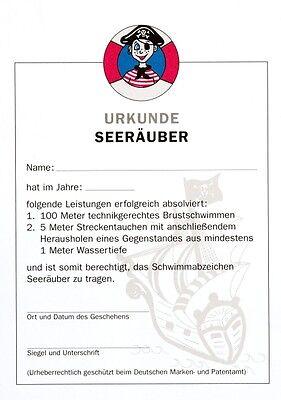"""Grevinga® FUN Urkunde """"Seeräuber"""" Schwimmauszeichnung 126100"""