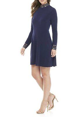 MICHAEL Michael Kors  Gommet Mockneck Fit-&-Flare Dress XS ()