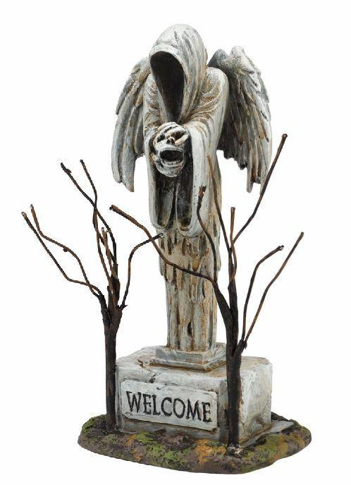 Department 56 Halloween Village Angel of Death Graveyard Statue Figurine 4054256