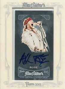 2013 Topps  AXL ROSE auto West Island Greater Montréal image 1