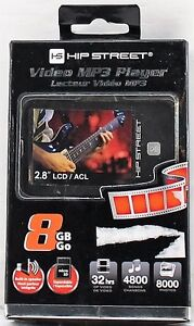 Hipstreet 8GB Video MP3 Player HS-2802-8GB (NEUF)