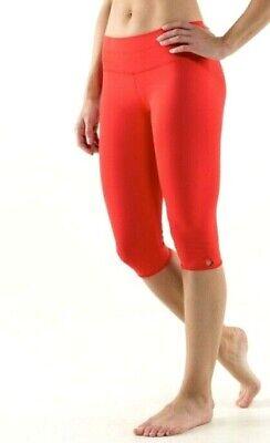 Lululemon Bandha Crop Love Red Leggings  uk 8