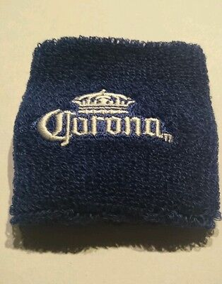 Corona Wristband - Blue with White logo