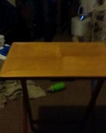 Fold away table brilliant condition solid wood