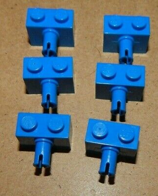 Lot of 6 Lego Blue Single Pin Axle Bricks 1x2 WYSIWYG Not Random Best