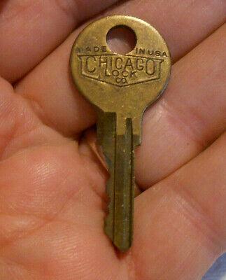 Vintage Old Antique Original Chicago Lock Co CY Drake Brass Key # 209