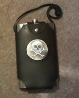Canteen with Skull leather cover