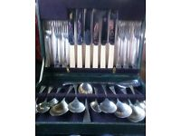 Sheffield stainless steel cutlery set