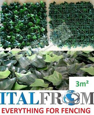 seto artificial boj poda artística hojas de hiedra 12pc3m² pantalla de privacida