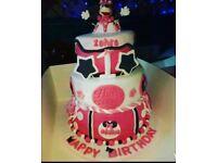 Birthday cakes, cupcakes