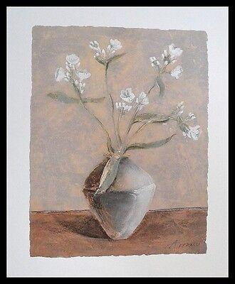 Antonio Ferralli White Phlox Poster Bild Kunstdruck im Alurahmen schwarz 50x40cm