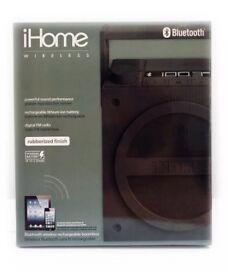 iHome ibt4 Wireless Bluetooth Speaker / Boombox With FM Radio