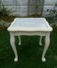 REDUCED FOR A QUICK SALE - SHABBY CHIC CREAM SIDE TABLE