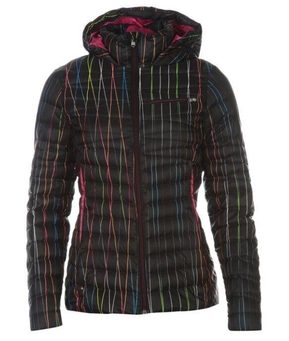 Spyder Timeless Damen Ski Jacke Schwarz Bunt Größe XS Neu mit Etikett