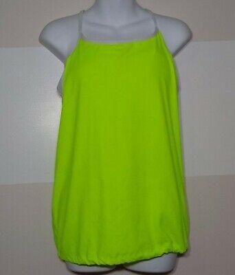 Fabletics Women's neon green Tank Top runners Banded Built-In-Bra large