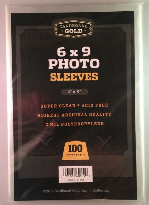 Lot of 300 CBG 6x9 Photo 2 mil Soft Poly Sleeves protectors 6 x 9 sheets covers
