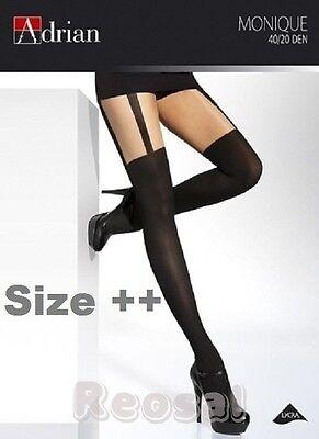 % GESCHÄFTSAUFGABE %  Plus Size  Straps Imitation Strumpfhose  20/40 Den  XL-XXL
