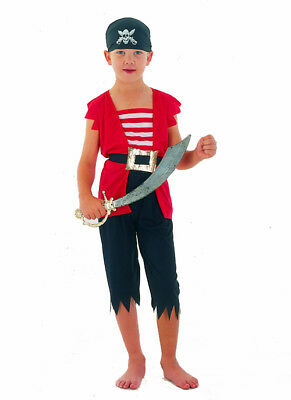 Kurzes Piratenkostüm für Jungen bunt Cod.173862 (Cod Kostüm)